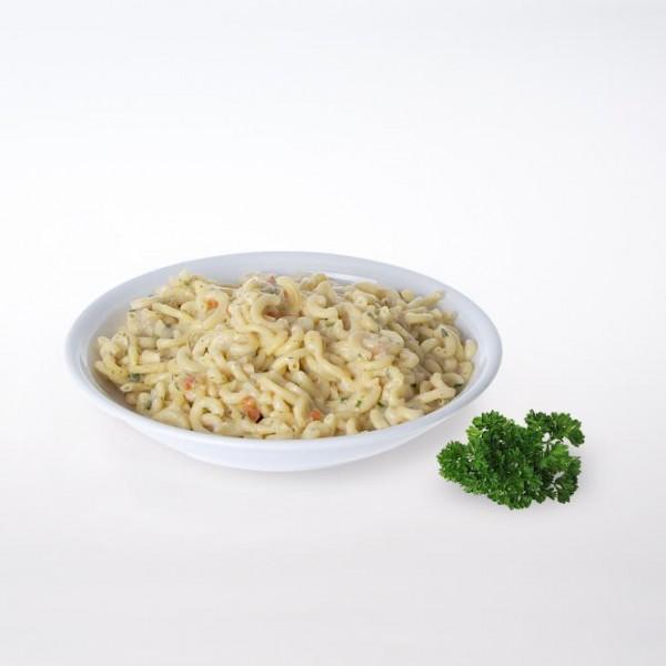 Nudeln in Kräutercreme saftig und cremig 2 Portionen