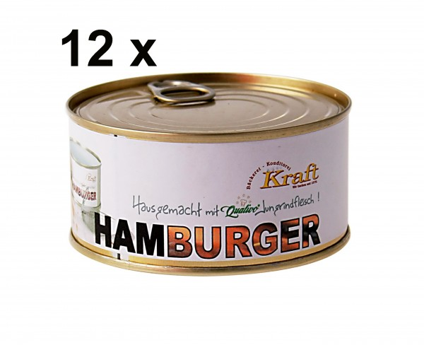 12 Hamburger in der Dose im Sparpreis