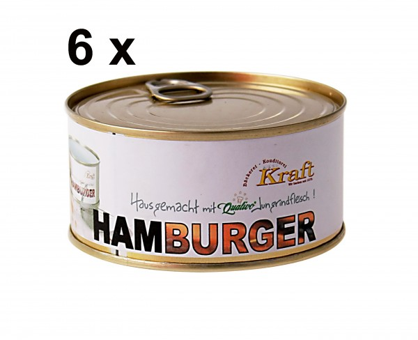 6 Hamburger in der Dose als Sparpaket